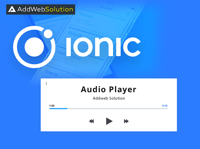 Audio Player With Ionic